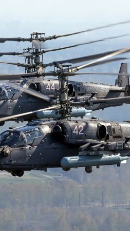 Kamov Ka-52 Alligator, Russian army, fighter helicopter, air force (vertical)