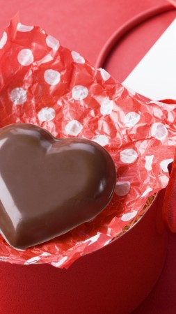 Valentine's Day, February 14, chocolate, candy, hearts, love (vertical)