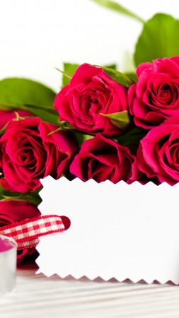 Valentine's Day, February 14, flowers, roses, cards, hearts, love, gift (vertical)