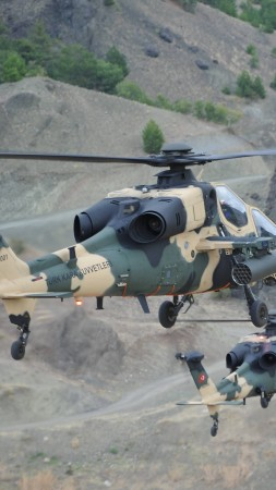 Agusta Westland T-129, AgustaWestland, attack helicopter, Turkish Aerospace Industries,  (vertical)