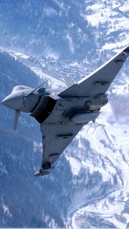 Eurofighter Typhoon, attack, aircraft, fighter, Royal Air Force, German Air Force, Italian Air Force, Spanish Air Force