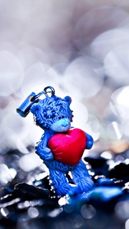 Valentine's Day, February 14, heart, love, holiday, gift, Bear, bokeh (vertical)