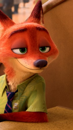 Zootopia, fox, Best Animation Movies of 2016, cartoon (vertical)