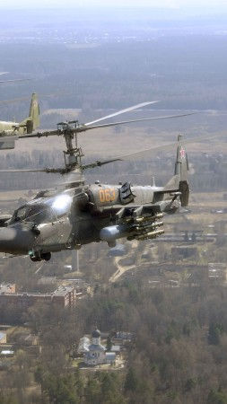 KAMOV KA-50 BLACK SHARK, fighter helicopter, fighter, Russian Air Force (vertical)