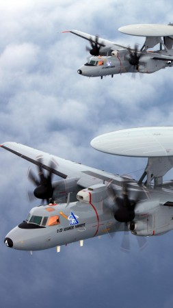 E-2 Hawkeye, Northrop Grumman, tactical airborne, early warning, USA Army, United States Navy (vertical)