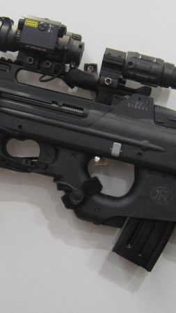 FN F2000, 5.56×45mm, NATO, assault rifle,  (vertical)