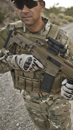 Remington ACR, Magpul Masada, soldier, NATO, assault rifle (vertical)