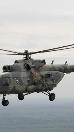 MI-8, Russian army, fighter helicopter, air force, Russia (vertical)