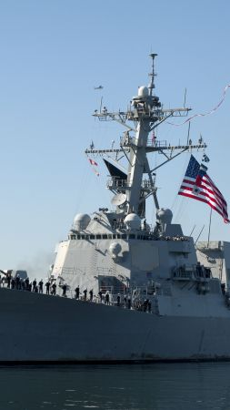 USS Stockdale, DDG-106, Arleigh Burke-class, guided missile destroyer, USA Navy (vertical)