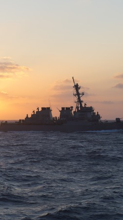 USS Laboon, DDG-58, Arleigh Burke-class, destroyer, USA Navy (vertical)