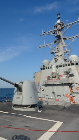 USS Ross, DDG-71, Arleigh Burke-class, guided-missile destroyer, USA Navy (vertical)