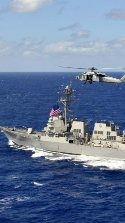 USS William P. Lawrence, DDG-110, Arleigh Burke-class, guided-missile destroyer, USA Navy (vertical)