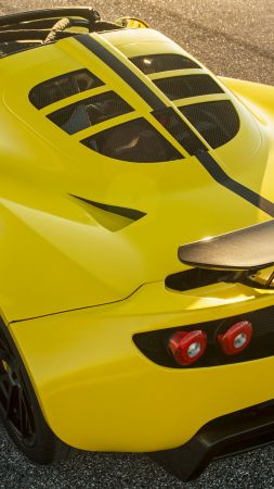 Hennessey Venom GT Spyder, yellow, sport car, racing, SEMA 2015 (vertical)