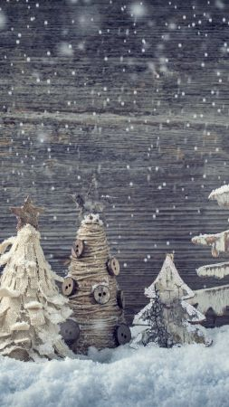 Christmas, New year, decorations, snow (vertical)