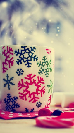 Christmas, cup, tea, winter (vertical)