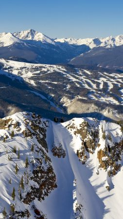 Vail, Colorado, USA, travel, tourism, mountains, snow