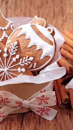 Christmas, New year, cookies, cinnamon (vertical)
