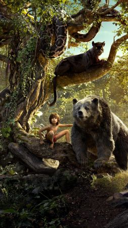 The Jungle Book, Best Movies, Mowgli, Bagheera (vertical)