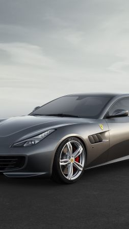 Ferrari GTC4Lusso, Geneva International Motor Show 2016, sports car, grey (vertical)