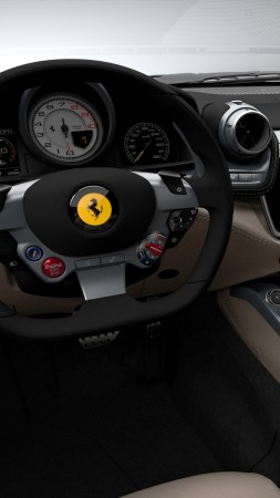 Ferrari GTC4Lusso, Geneva International Motor Show 2016, sports car, interior (vertical)