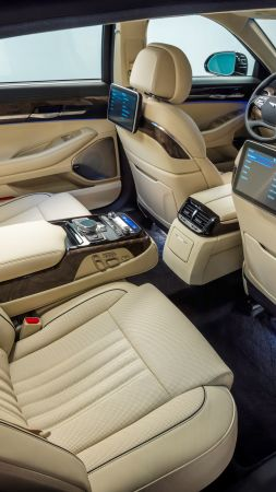 Genesis G90, luxury cars, interior (vertical)