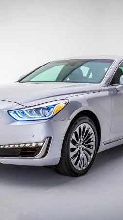 Genesis G90, luxury cars, grey (vertical)