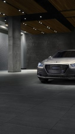 Genesis G90, luxury cars, grey