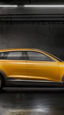 Audi H-Tron Quattro, hydrogen crossover, yellow (vertical)