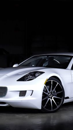 VLF Destino V8, NAIAS 2016, luxury car, white (vertical)