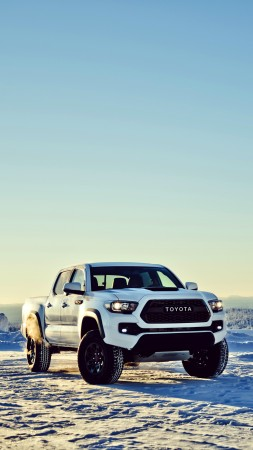 Toyota Tacoma TRD, Chicago Auto Show 2016, off-road, white (vertical)