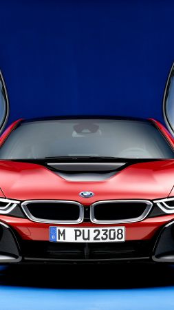 "BMW i8 ""Protonic Red Edition"", Geneva Motor Show 2016, hybrid, red (vertical)"