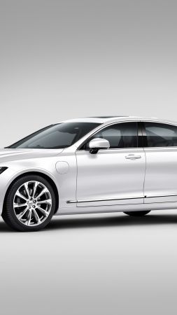 Volvo V90, Geneva Motor Show 2016, sedan, grey (vertical)