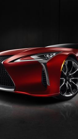 Lexus LC 500, detroit auto show 2016, red (vertical)
