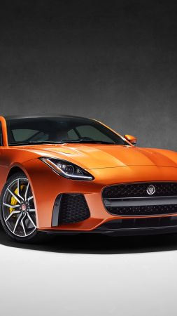"Jaguar F-Type SVR, Geneva Auto Show 2016, Coupe, ""British Design Edition"", orange (vertical)"