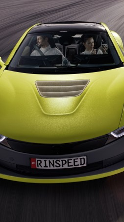 Rinspeed Etos, CES 2016, Electric Car, yellow (vertical)