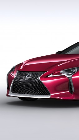 Lexus LC 500, detroit auto show 2016, sport car, red (vertical)