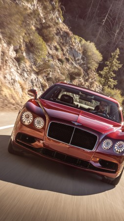 Bentley Flying Spur V8 S, Geneva Auto Show 2016, luxury, red (vertical)