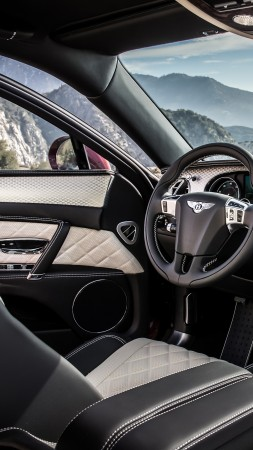 Bentley Flying Spur V8 S, Geneva Auto Show 2016, luxury, interior (vertical)