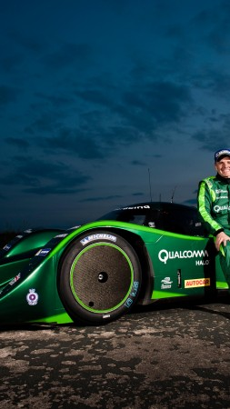 Drayson Racing B12/69, Quickest Electric Cars, racer, sport cars, electric cars, green (vertical)