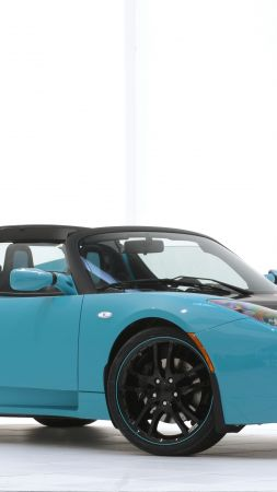 Tesla Roadster Sport, Quickest Electric Cars, sport cars, electric cars, blue (vertical)