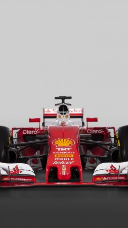 Ferrari SF16-H, Formula 1, F1, red (vertical)