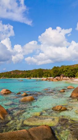 Anse Lazio, Praslin Island, Seychelles, Best beaches of 2016, Travellers Choice Awards 2016 (vertical)