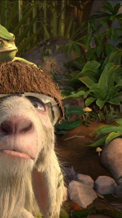 Robinson Crusoe, parrot, goat, Hedgehog, Best Animation Movies, cartoon (vertical)