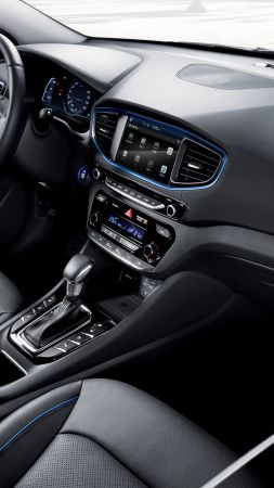 Hyundai IONIQ, Electric Car, hybrid, interior (vertical)
