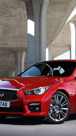 Infiniti Q50S 3.0t, Chicago auto show 2016, Hybrid, red