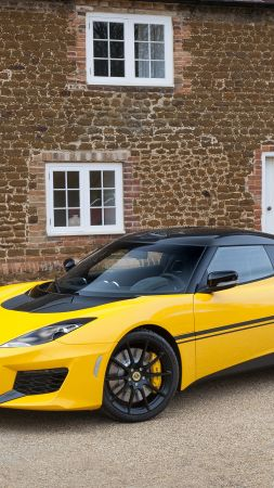 Lotus Evora Sport 410, Geneva Auto Show 2016, roadster, speed, yellow (vertical)