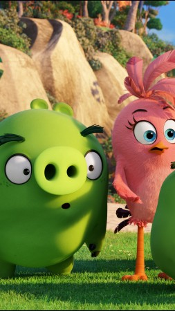 Angry Birds, Green pigs, family, Animation 2016 (vertical)