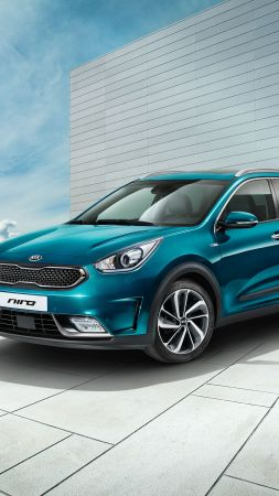 Kia Niro Worldwide, Geneva Auto Show 2016, hybrid, electric cars, crossover, blue (vertical)