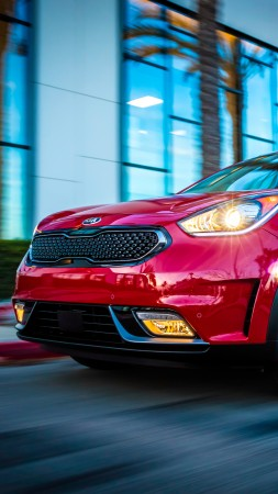 Kia Niro US-spec, Chicago Auto Show 2016, hybrid, electric cars, crossover, red (vertical)