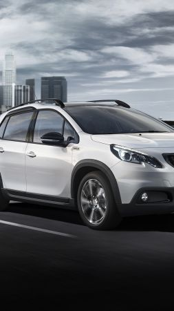 Peugeot 2008 GT Line, Geneva Auto Show 2016, crossover, white (vertical)